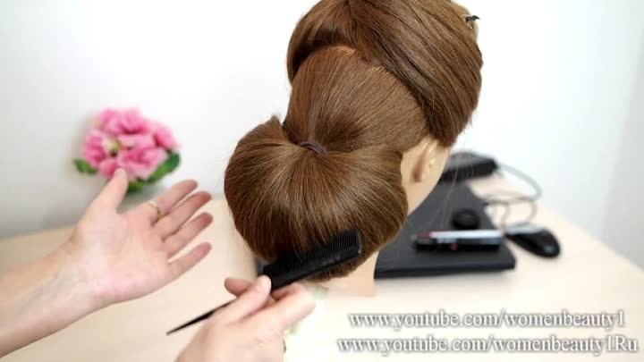 Wedding bridal hairstyle. Hairstyles for long hair. Preview