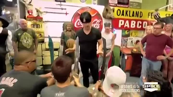 Criss Angel BeLIEve_ At Sword Point (On Spike).mp4
