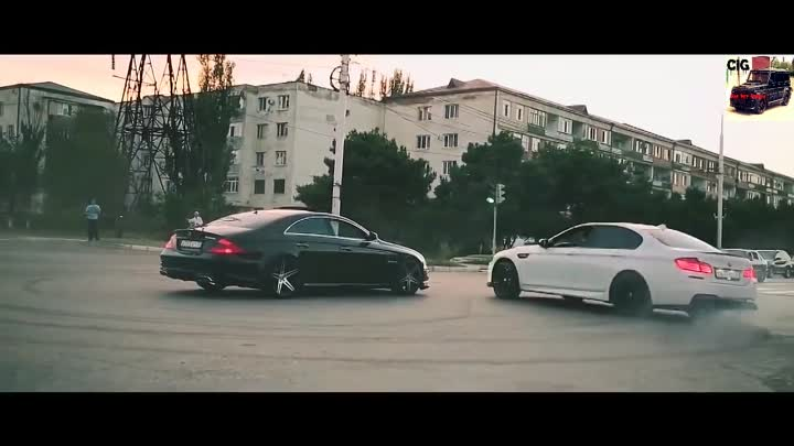 BMW F10 And Mercedes Benz CLS 63 AMG Drift