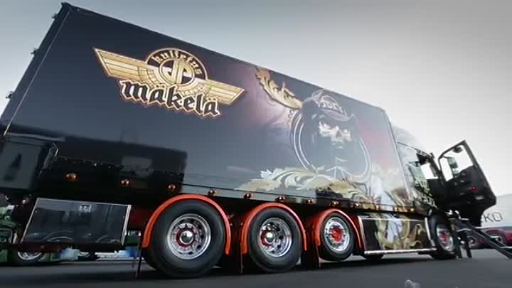 """Volvo Trucks - The 'Ace of Spades' truck - as heavy metal as it gets - """"Welcome to my cab - light"""""""