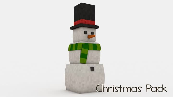 Cinema 4D] Minecraft Furniture Christmas models pack Part 1