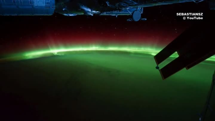 Earth at night seen from space ISS (HD 1080p) ORIGINAL