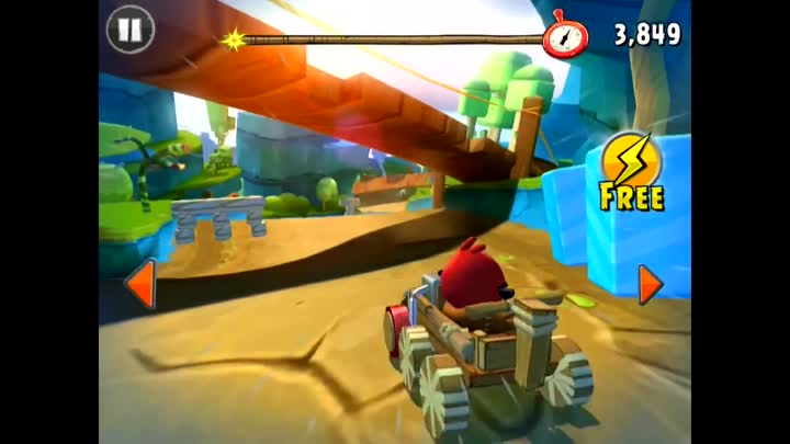 Angry birds Go! Part 19! Race against the clock! 4 STARS! Rocky Road! Gameplay Walkthrough! Red!