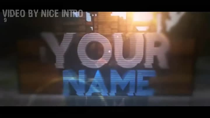 3D Amazing TOP 10 Minecraft Animation Intro Template | Free Download