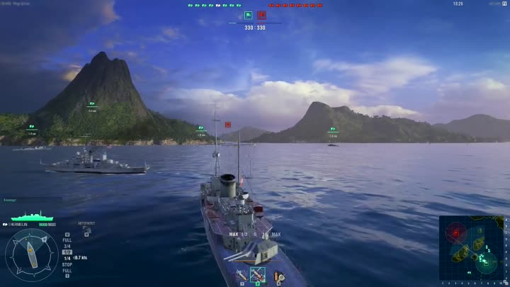 Видео: Летсплей world of warships by Azazin Full HD 60fps