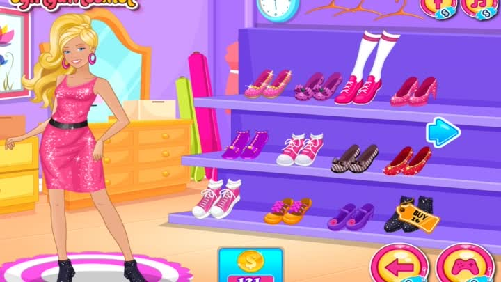 Видео: Barbie Shop Till You Drop - Barbie Shopping and Dress Up Game For Girls