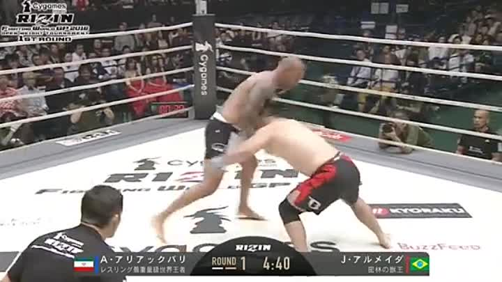 Амир Алиакбари vs Жоао Алмейда. RIZIN 2 - OPENWEIGHT TOURNAMENT 1ST ROUND