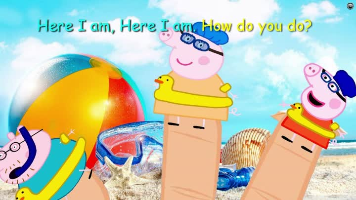 Peppa Pig Holiday By The Sea Finger Family Nursery Rhymes Song