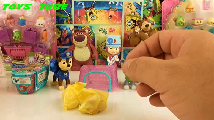 Видео: Shopkins Season 3 open Paw Patrol Щенячий Патруль открывают Шопкинс Сезон 3
