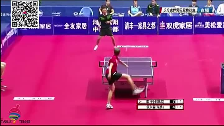 Видео: 2016 World Champion Table Tennis Challenge Competition 4th Match (1)