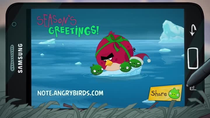 Samsung & Angry Birds presents: Take Note Pigs!