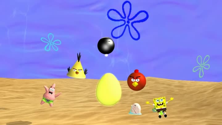 ANGRY BIRDS SPONGEBOB SQUAREPANTS SPOOF ♫ 3D animated mashup ☺ FunVideoTV - Style ;-))