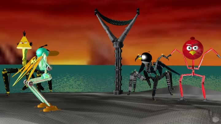 ANGRY BIRDS ♫ ALIENS vs. ROBOTS - EDITION ☺ 3D animated spoof
