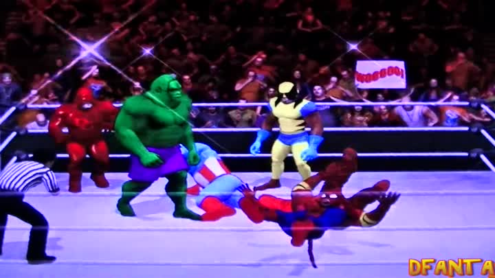Видео: Marvel Apes *Battle Royal* Spiderman vs Hulk vs Daredevil vs Wolverine vs Ironman vs Capt America