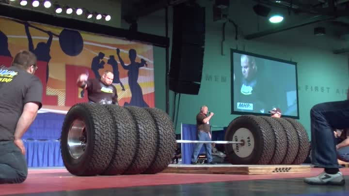 Arnold Strongman Classic 2012: Brian Shaw 1073 pound deadlift With Torn Bicep