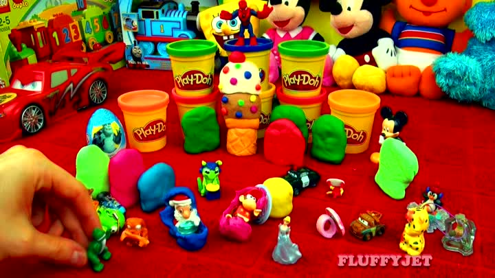Видео: 30 Surprise Eggs!! Play Doh Kinder Disney Cars Ice-Cream SpongeBob Angry Birds Super Mario Peppa Pig