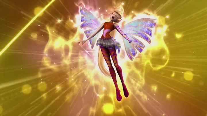 Видео: Winx Club - Stella All Full Transformations up to Tynix! HD!