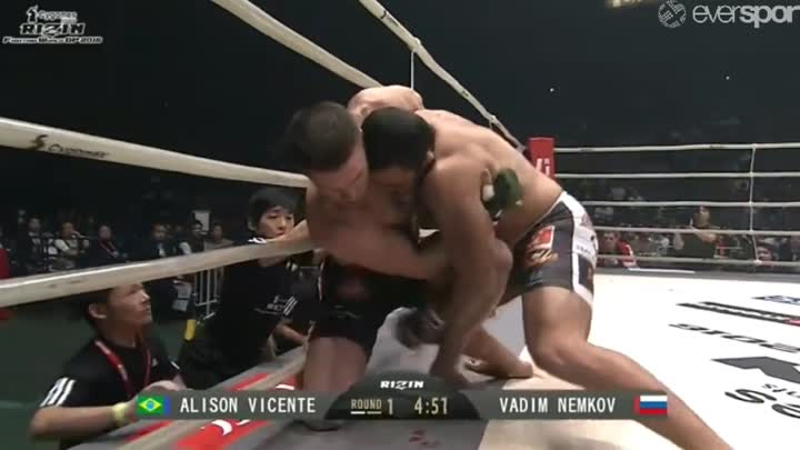 Вадим Немков vs Алиссон Висенте Rizin Fighting World Grand Prix 2016