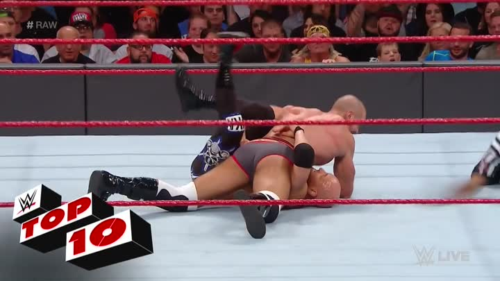 Видео: Top 10 Raw moments_ WWE Top 10, Jan. 2, 2017