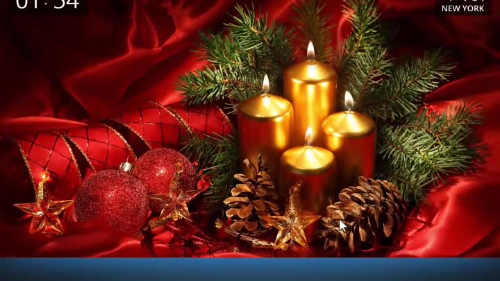 Живые обои на рождество Burning candles for Christmas (Burning candles for Christmas Live Wallpaper)