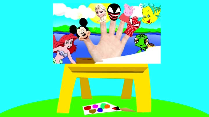 Finger Family Collection Spiderman Peppa Pig Superheroes Nursery