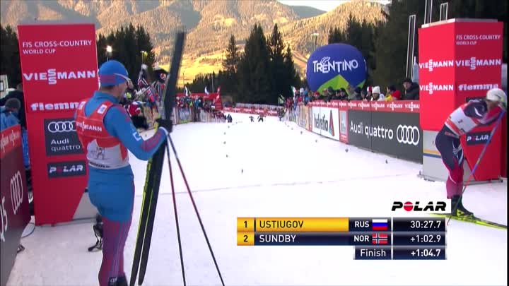 Видео: Top 3 Finish in Men's Pursuit Final Climb - Val di Fiemme - TdS - Cross Country Skiing - 2016/17