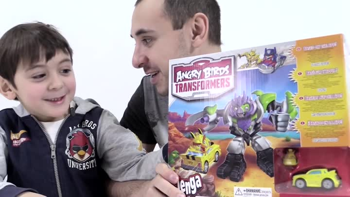 Видео: Видео для детей: Папа Роб и Ярик! Angry Birds Transformers. Энгри Бердз - Трансформеры.