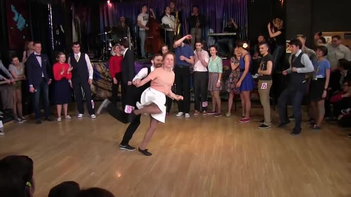Fast Tempo Part of Lindy Hop Advanced Final Jam at Russian Swing Dance Champions