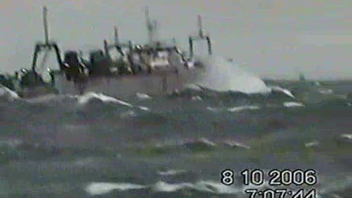 Fishing trawler in a small storm ( Atlantica 2006 )