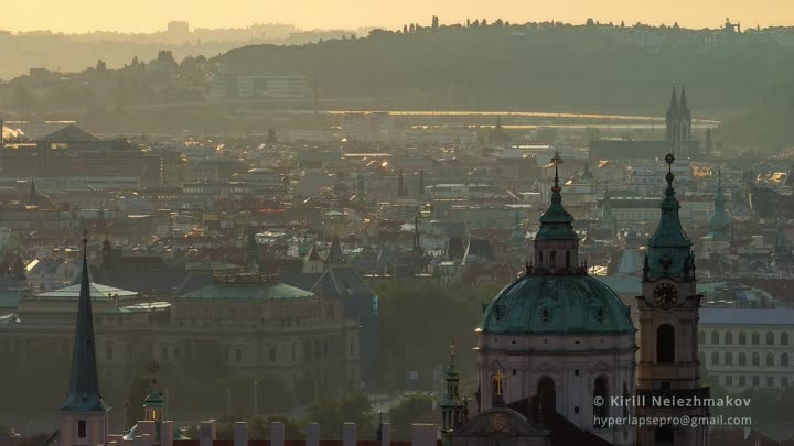 A Glass of Prague. Timelapse & Hyperlapse. Czech Republic