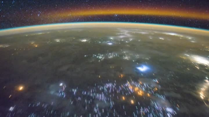 Earth Orbit From the Middle East to the South Pacific Ocean