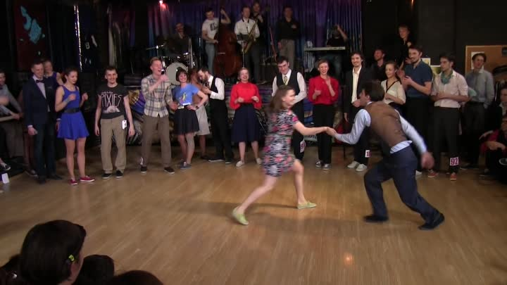 Fast Tempo Part of Lindy Hop Advanced Final Jam at Russian Swing Dance Championship 2015