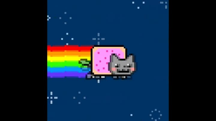 Нян Кэт [1 час] (Nyan Cat original [1 hour] HD 720p.)