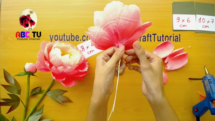 Abc Tv How To Make Coral Charm Peony Paper Flower From Crepe Paper