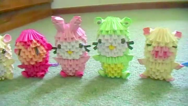 3D origami new collection (sanrio, cartoon characters)