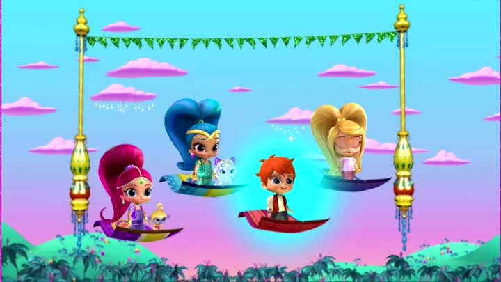 Видео: Мультик игра, Шиммер и Шайн на русском, гонка в Зарамэй, Shimmer and Shine, #kids, fun kids games