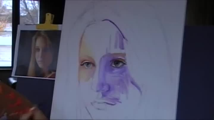 Painting Portraits in oil demo by Tamara Geddes.Lessons available