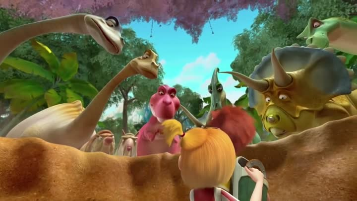 Видео: Dinomama - Travels in time Jurassic period of the Dinosaurs. Cartoon about dinosaurs for children