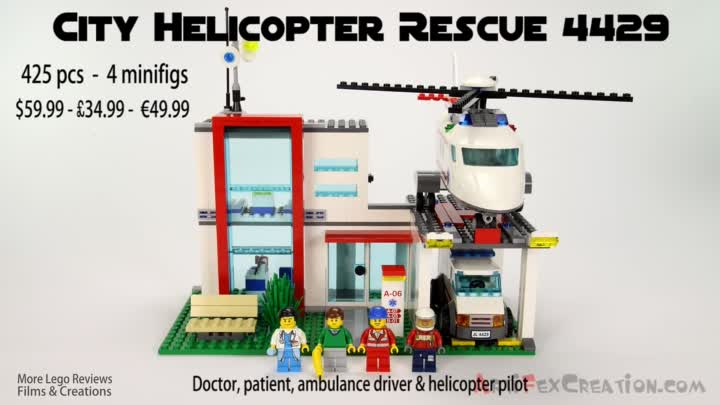 Видео: Lego City HOSPITAL Helicopter Rescue 4429 Stop Motion Build Review