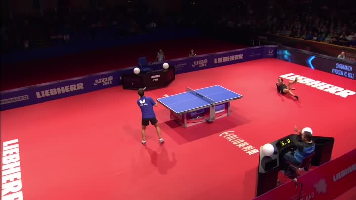 Видео: Most Outrageous Table Tennis Match EVER