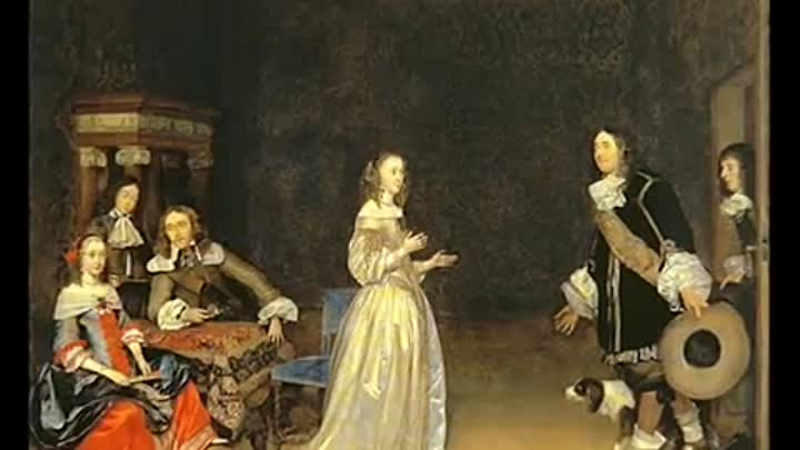 Видео: Genre paintings (ter Borch)-Терборх, Герард. 1617-1681