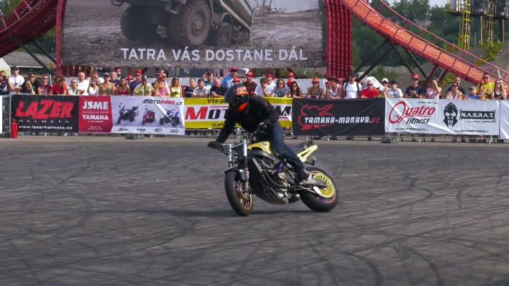 Amazing Stunt Riding by Mike Jensen - 1st Place Czech Stunt Day