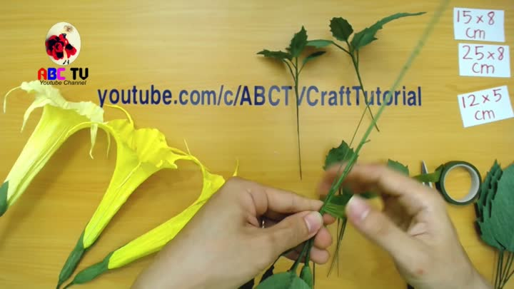 Abc Tv How To Make Brugmancia Paper Flower From Crepe Paper