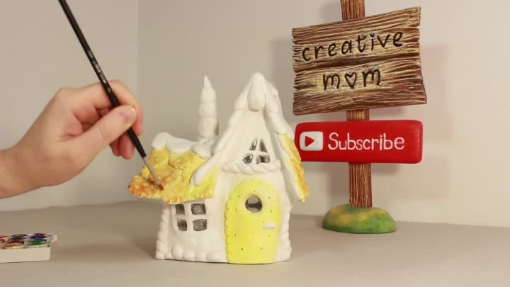 ❣DIY Gingerbread Fairy House Lamp Using Coke Plastic Bottle