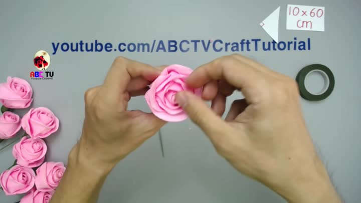 Abc Tv How To Make Rose Paper Flower From Crepe Paper Origami