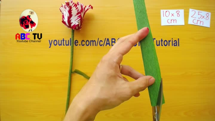 Abc Tv How To Make Parrot Tulips Paper Flower From Crepe Paper