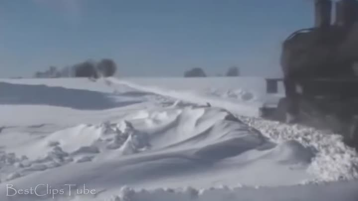 Видео: Powerful Trains Snow Plow Compilation