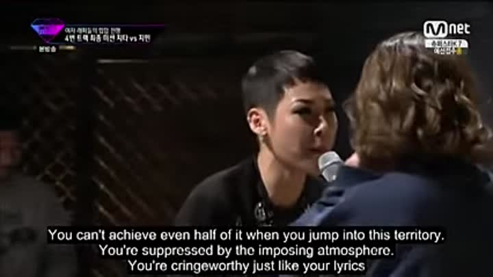 Unpretty Rapstar Cheetah vs Jimin (Eng Sub)