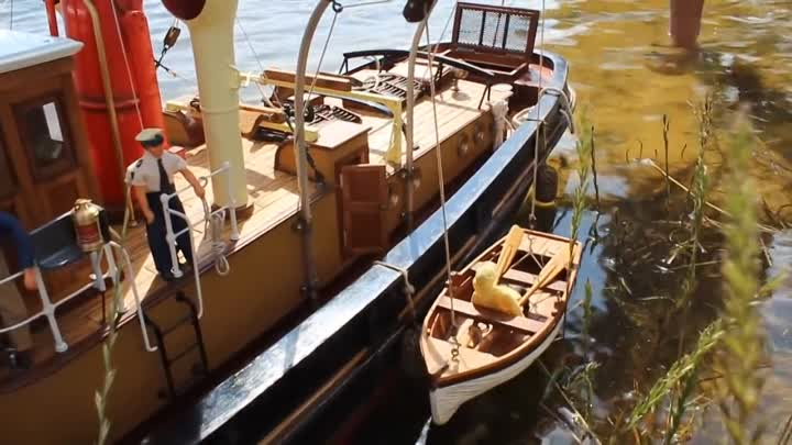 Видео: Steamboat Proud Mary Portuguese boat 1_19 Large Scale RC Replica of the Inglish