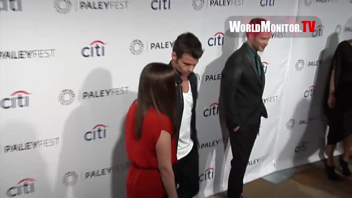 Видео: Daniel Gillies and Rachael Leigh Cook arrive at PaleyFest 2014 'The Originals' Redcarpet